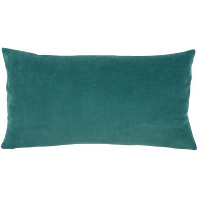 Coussin uni Elise Vert de gris 30 x 50