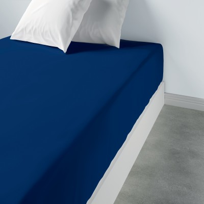 Drap housse uni Coton Bleu 90 x 190 x 35