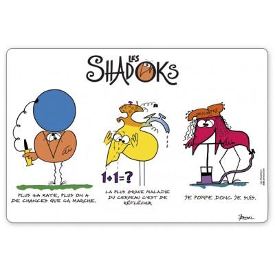 Set de table Shadoks 3 devises 30 x 45