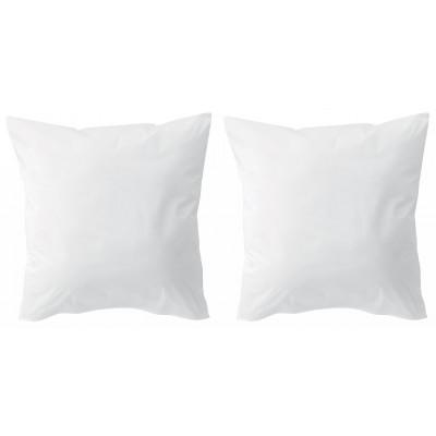 Lot de 2 protèges oreillers microfibre Blanc 65 x 65
