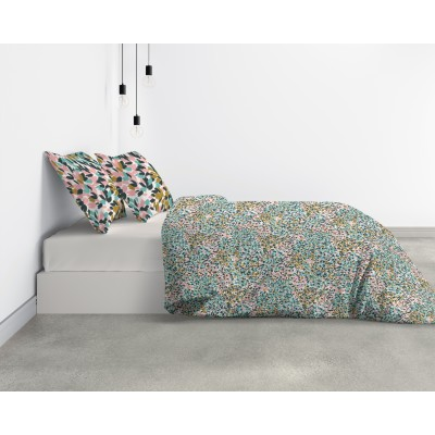 Parure de lit Bio 2 personnes Telma avec housse de couette et taies d'oreiller Imprimé 200 x 200