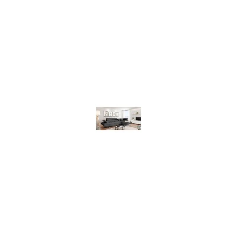Canapé d'angle convertible 5 places avec coffre de rangement LISBOA