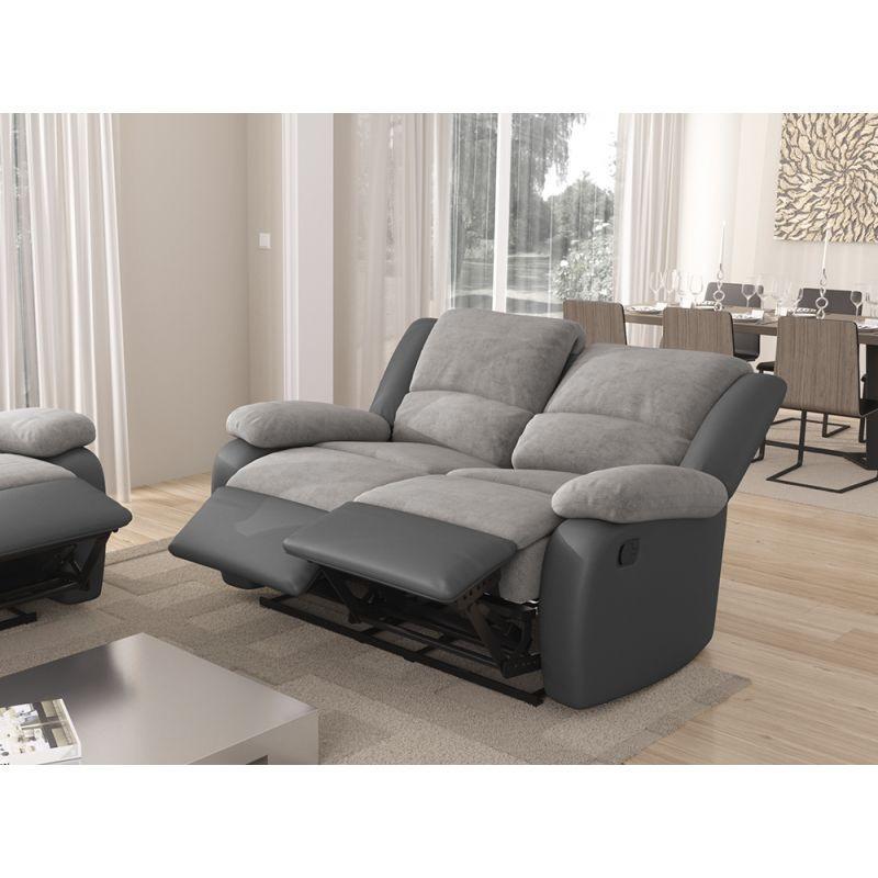 Canapé de relaxation manuel 2 places