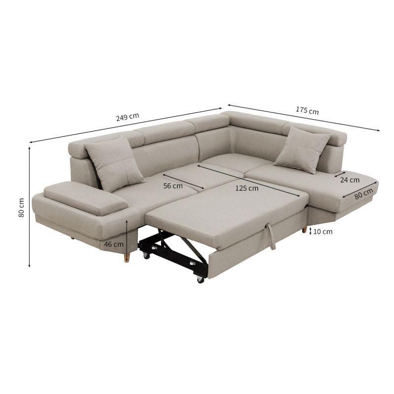 Canapé d'angle scandinave convertible MATEO