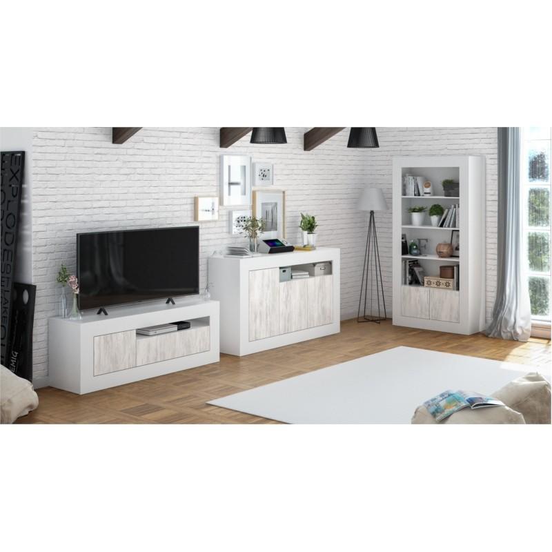 Meuble TV Design 3 portes  L139 cm GWENAELLE