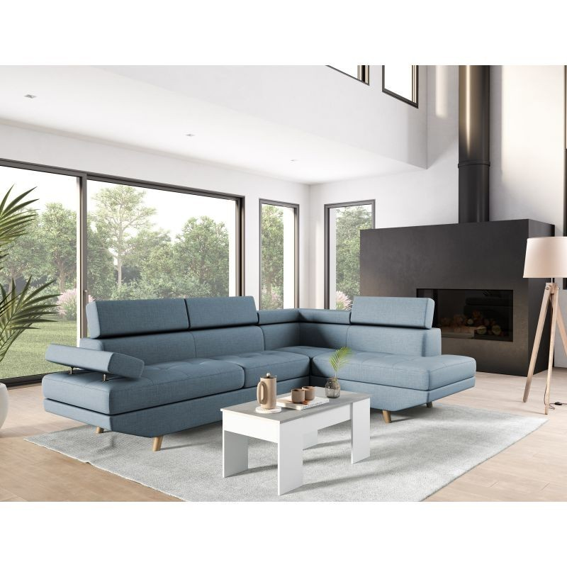 Canapé d'angle droit style scandinave RIO