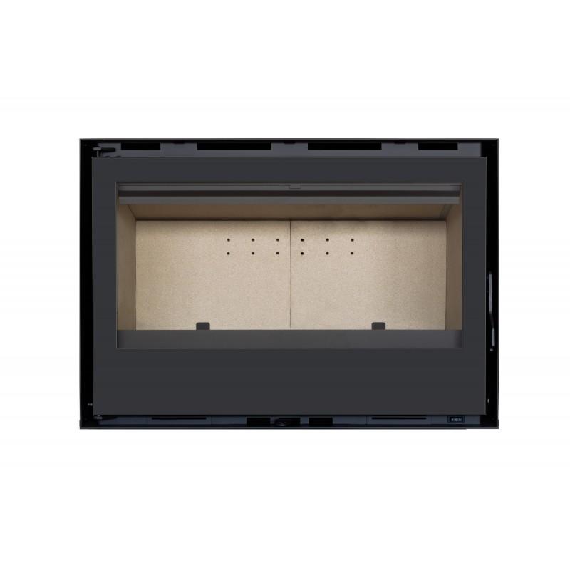 Pack Complet INSERT Classic modèle C-180 porte Battante  14kW Ventilation 2 vitesses + Option Cadre 4 côtés Acier CADRE 4L
