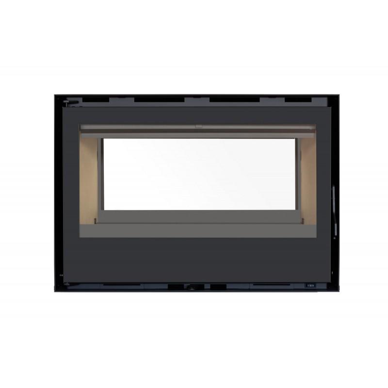 Pack Complet INSERT Classic Double Face C-290DF porte Battante 13kW Ventilation 2 vit. + 2x Option Cadre 4 côtés Acier CADRE 4L