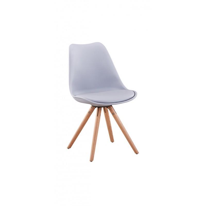 La GARDEN  lots de 2 chaises scandinaves en polypropylène coussin simili