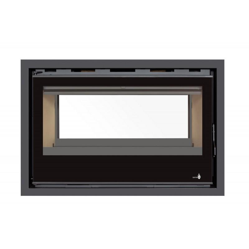 Pour Insert C-180VDF Option Cadre 3 côtés Verre CADRE 3LV - Dimensions :129x129x129mm (pour 1 face)