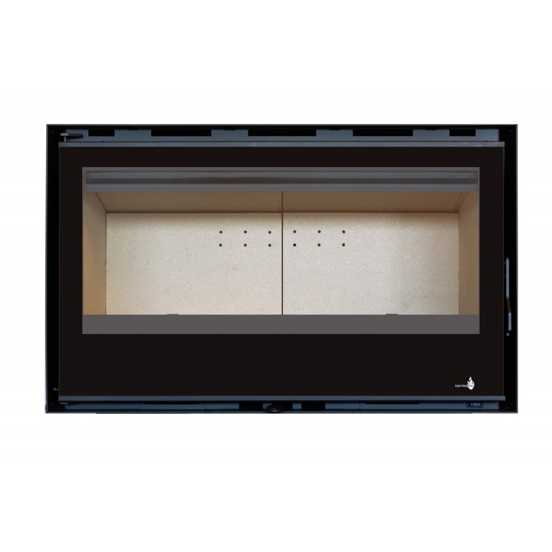 Pack Complet INSERT Classic Vision C-290V porte Battante 14kW Ventilation 2 vitesses + Option Cadre 4 côtés Verre CADRE 4LV