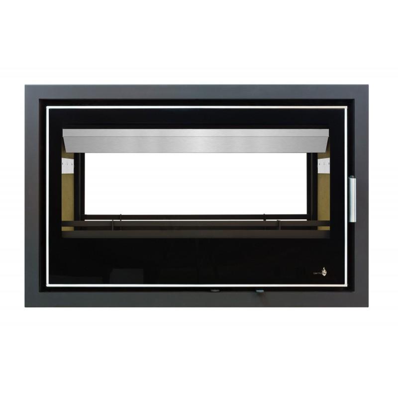 Pack Complet INSERT Black Serie Double Face LISBOA-900DF porte Battante14kW Vent. 2X+ 2x Option Cadre 4 côtés Verre…