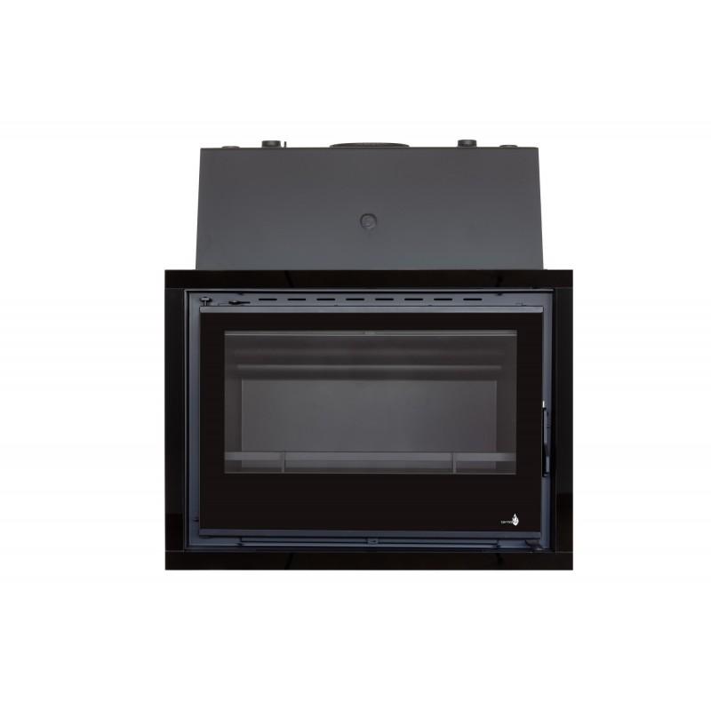 Pack Complet INSERT Insert Chaudière modèle C-580H porte Battante 24kW + Option Cadre 4 côtés Acier CADRE 4L