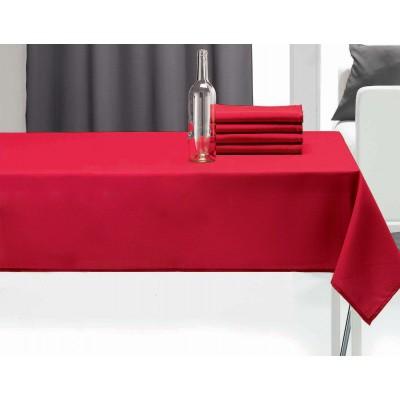 Nappe rectangulaire uni pes Rouge 140 x 240